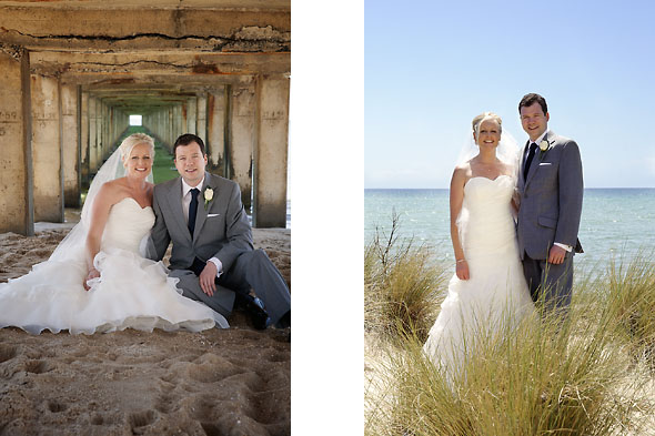 Kristy and Howard on Dromana Beach