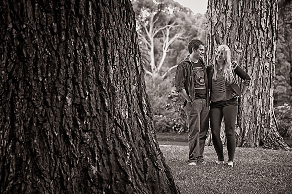 Sarah Jayne and Chris in Fitzroy Gardens, Melbourne