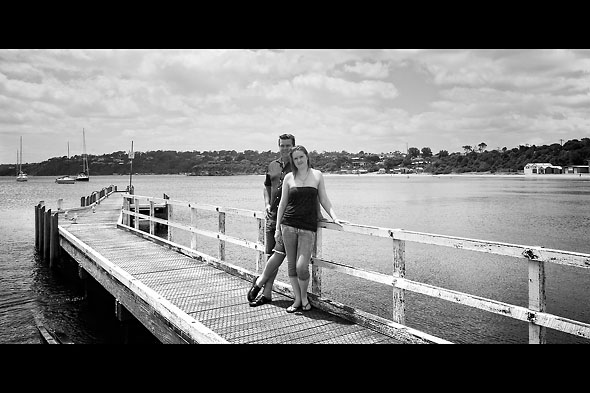 Tammy and Chris at Mornington Harbour
