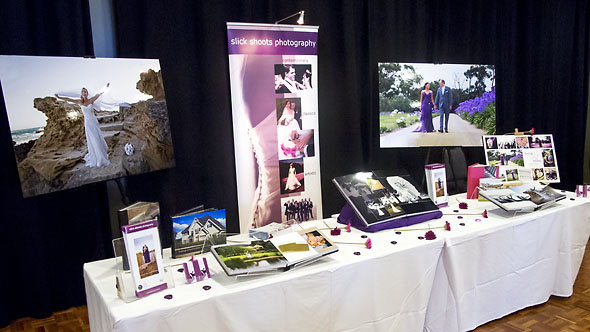 the Slick Shoots Photography display at the Moorabbin Bridal Expo