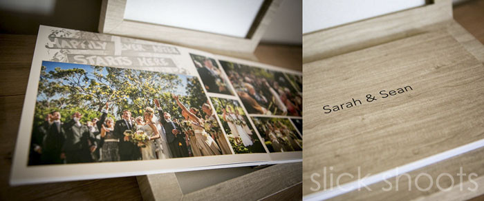 Slick Shoots Photography wedding album